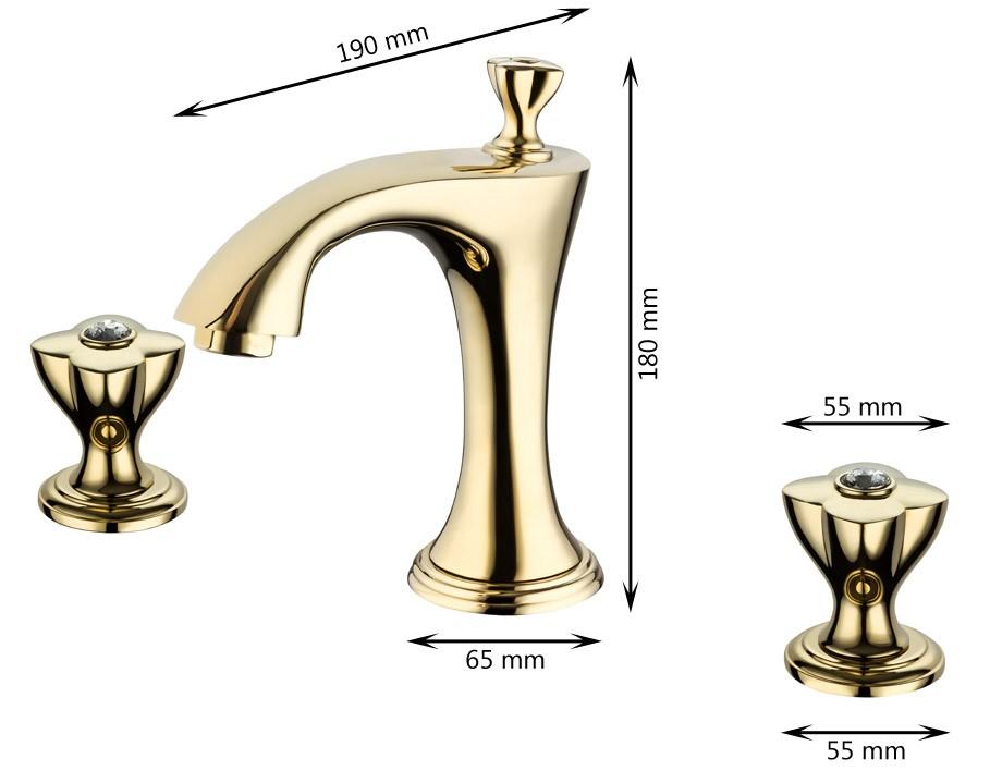 nostalgie r tro sanlingo 3 trous robinet mitigeur bagno. Black Bedroom Furniture Sets. Home Design Ideas