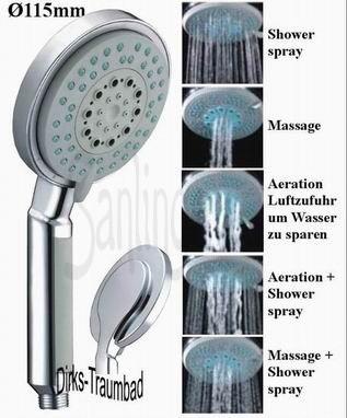 Aluminum Shower Column with LED Rain Shower from Sanlingo – Bild 2