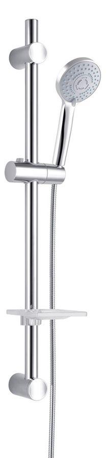 Dusch Set Duschset Duschstange Handbrause Seifenablage Chrom Sanlingo