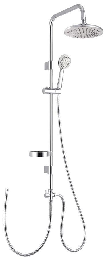 Sanlingo Design Duschset Dusche Handbrause Regenbrause Duschstange Kopfbrause Chrom – Bild 1