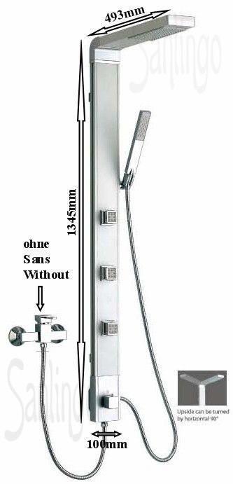 Aluminium Duschpaneel Duschsäule von Sanlingo – Bild 1
