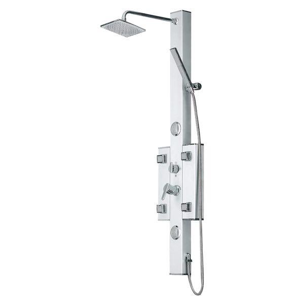 Aluminium Shower Panel Shower Column 6 Massage Jets Sanlingo – Bild 1