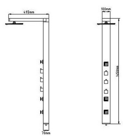 Aluminium Duschpaneel Duschsäule von Sanlingo – Bild 2