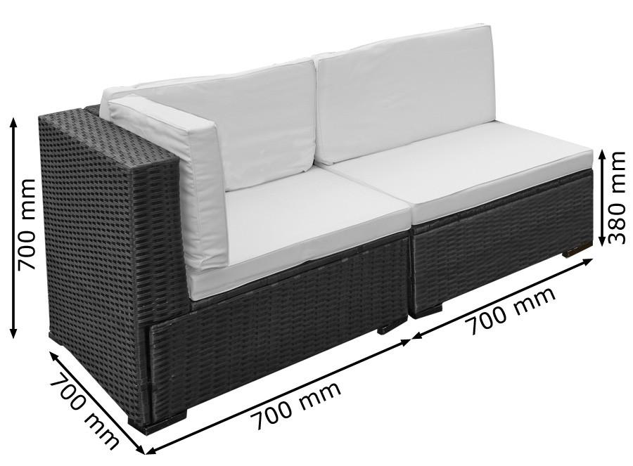 Poly Rattan Sitzgruppe Sitzgarnitur Gartenmöbel Lounge Sofa Garten ...