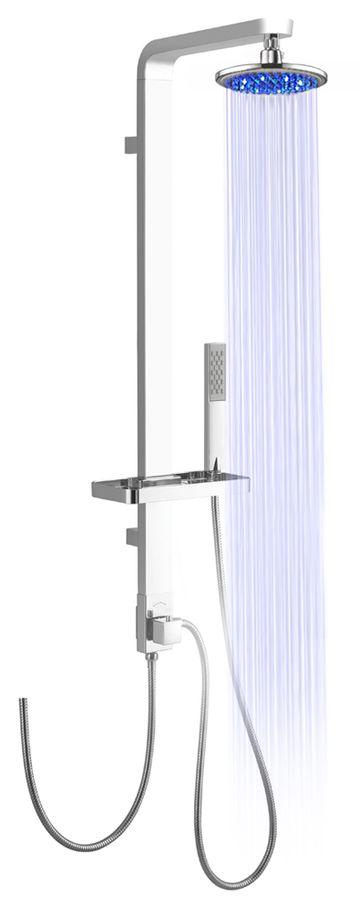 LED Aluminium Duschpaneel Duschsäule CHROM von Sanlingo