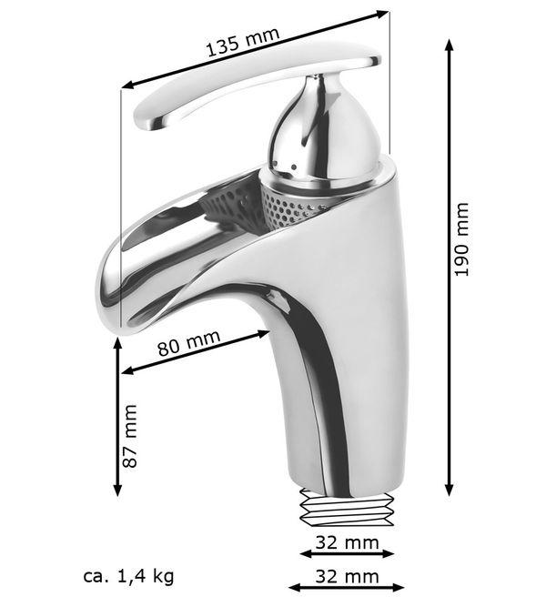 Modern Bathroom Water Tap Mixer Single Lever Chrome Wash Basin – Bild 4