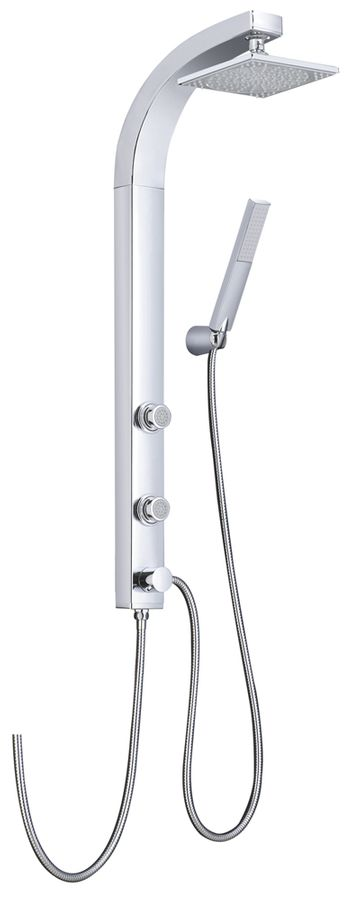 Chrome plated shower panel shower column, Massage Jets with anti-limestone – Bild 1