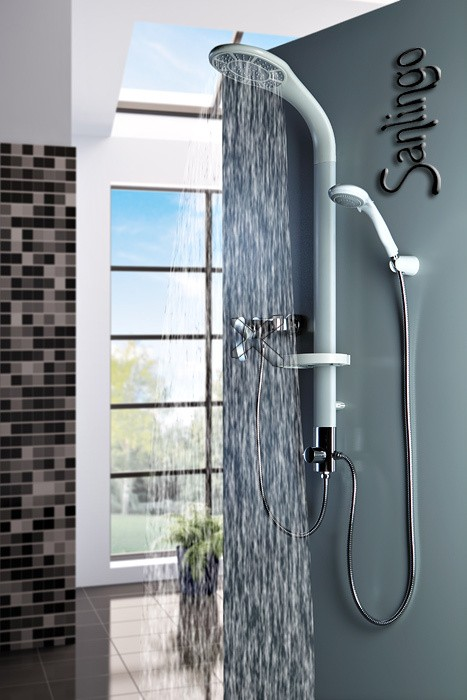 Weißes Aluminium Duschpaneel Duschsäule mit Regendusche von Sanlingo – Bild 1