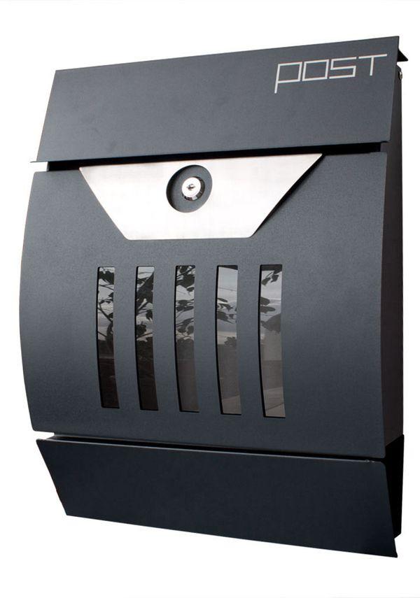 Edelstahl Zeitungsrolle Postkasten Moderner V2Aox Design Briefkasten Wandbriefkasten Wandmontage Zeitungsfach