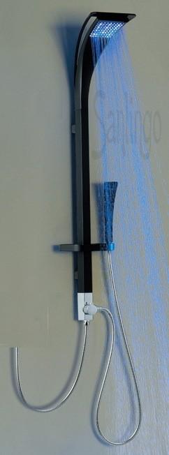 Aluminium LED Duschpaneel Duschsäule Schwarz Sanlingo