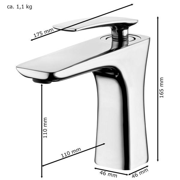 Modern Bathroom Wash Basin Sink Mono Tap Mixer Chrome Sanlingo – Bild 2