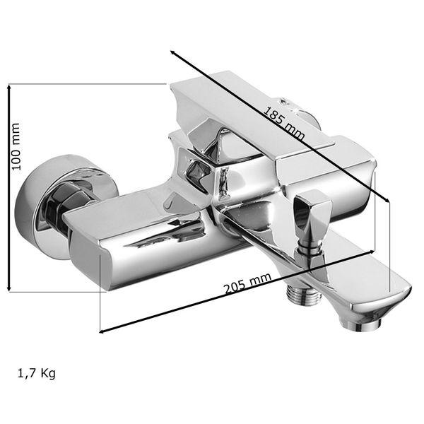 Badewannen Einhebelmischer Mischbatterie Wannenarmatur Armatur Chrom Sanlingo Serie OLIS – Bild 3