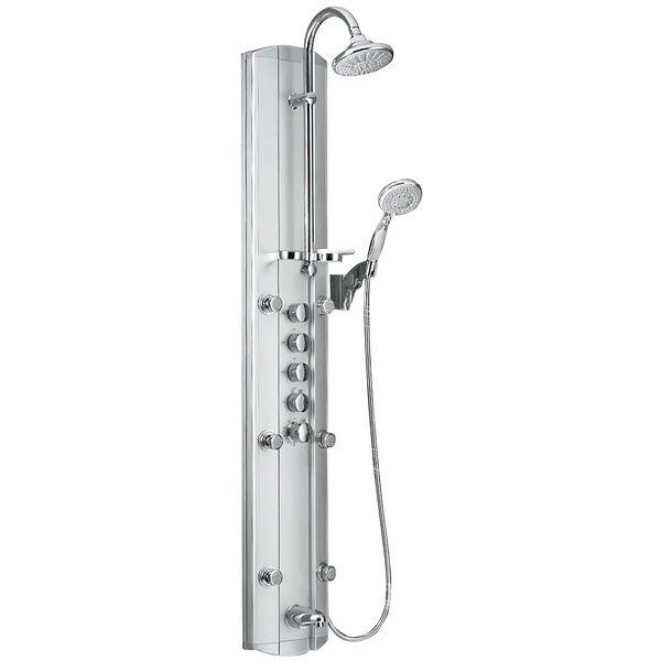 Aluminium Duschpaneel Duschsäule mit 6 Massagedüsen und Thermostatfunktion von Sanlingo