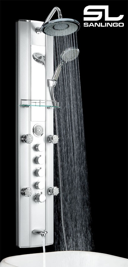 Exceptionnel Aluminium Shower Panel Tower With Thermostat, Massage Jets, Mirror, Etc...  From Sanlingo