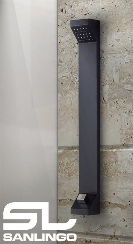 Aluminium Shower Panel Tower Rain Shower Black Sanlingo – Bild 3