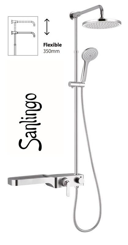 sanlingo duschset chrom dusche duschstange handbrause. Black Bedroom Furniture Sets. Home Design Ideas