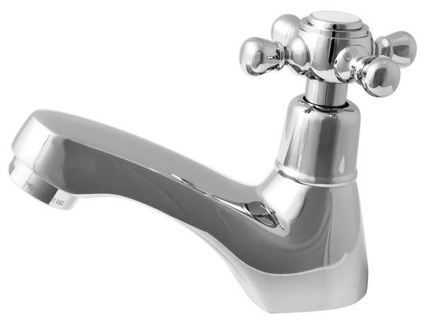 """Kaltwasser Armatur Wasserhahn Kreuzgriff Retro 1/2"""" Zoll Chrom – Bild 1"""