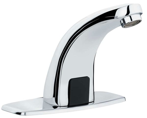 IR Infrarot Armatur Wasserhahn Automatik Waschbecken Chrom Kalt- und Warmwasser Sanlingo