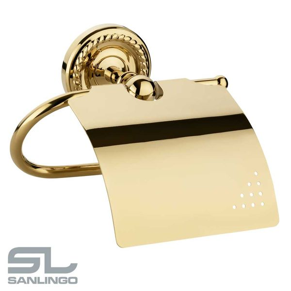 Retro Luxury Toilet Paper Roll Holder Massive Bathroom Gold Sanlingo LAPA Series – Bild 2