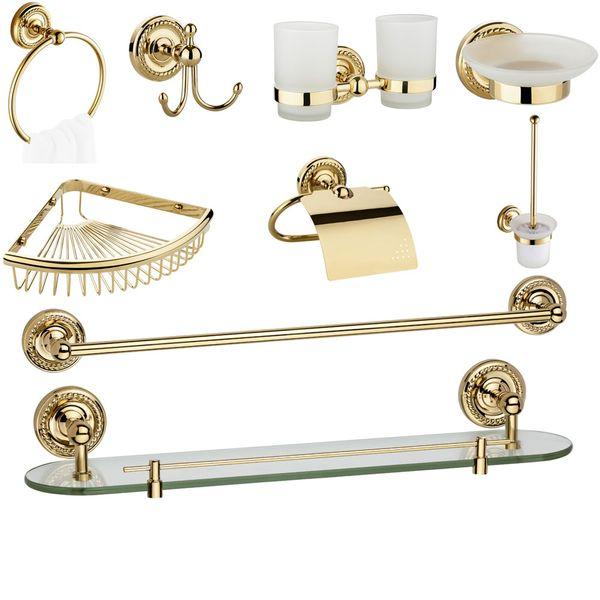 Design Handtuchhalter Wandmontage Bad Gold Sanlingo Serie LAPA – Bild 4