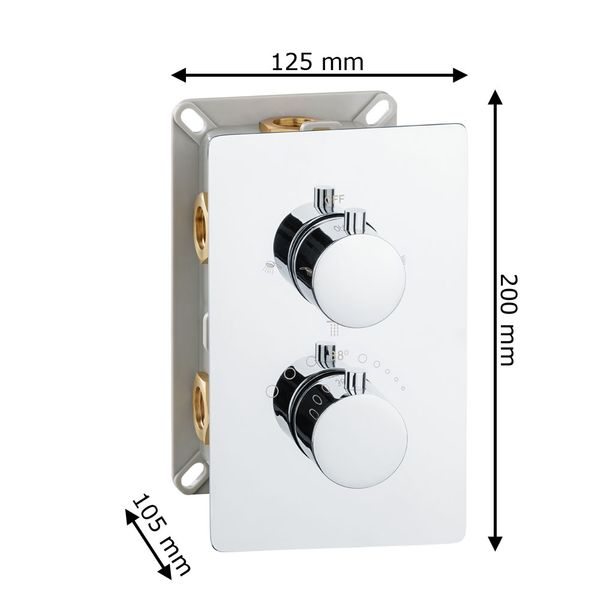 Modern Concealed Flush Wall Mount Three Ways Bath Shower Tap Mixer Thermostat Filler Chrome Sanlingo  – Bild 6
