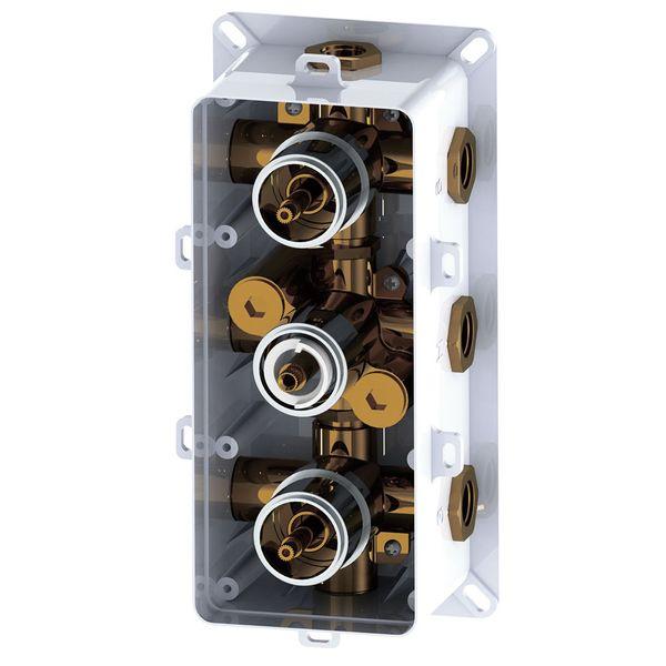 Sanlingo Dusche Unterputz Vier Wege Mischbatterie Wannenarmatur Armatur Thermostat Chrom – Bild 5