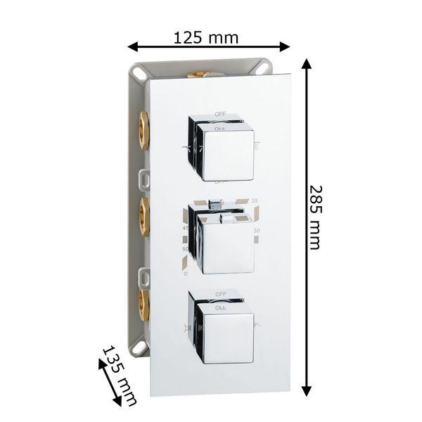 Sanlingo Modern Concealed Flush Wall Mount Four Ways Bathtub Shower Mono Tap Mixer Filler Chrome Thermostat – Bild 6
