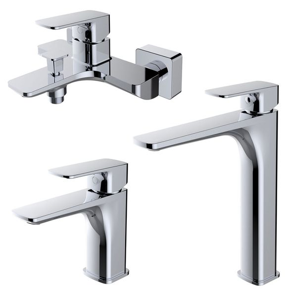 Modern Bathroom Wash Basin Sink Mono Tap Mixer Chrome Sanlingo DINA Series – Bild 4