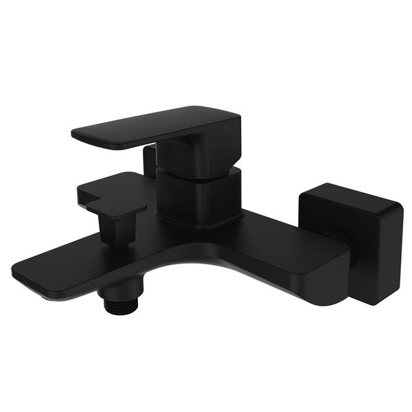 Modern Bath Bathtub Mono Tap Mixer Filler Black Sanlingo KULS Series – Bild 1