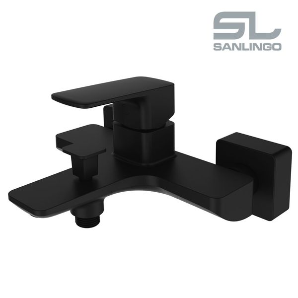 Modern Bath Bathtub Mono Tap Mixer Filler Black Sanlingo KULS Series – Bild 2