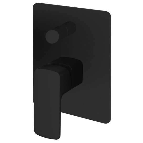 Modern Concealed Flush Wall Mount Bath Bathtub Shower Mono Diverter Mixer Filler Black Sanlingo  – Bild 1