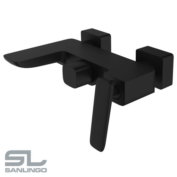 Modern Bath Bathtub Mono Tap Mixer Filler Black LUDO Series Sanlingo – Bild 2