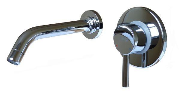 Design 2hole Concealed Single Lever Faucet Wash Basin Sanlingo Highgloss Chrome – Bild 1