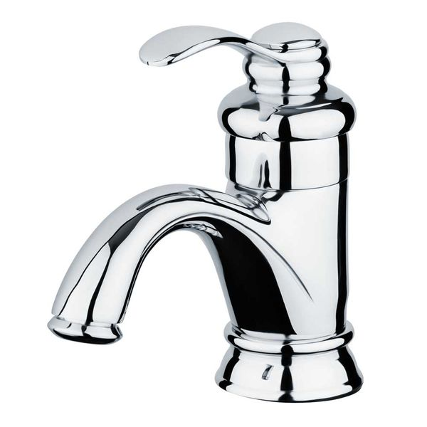 Retro Bath Wash Basin Single lever Tap Mixer Chrome Sanlingo – Bild 1
