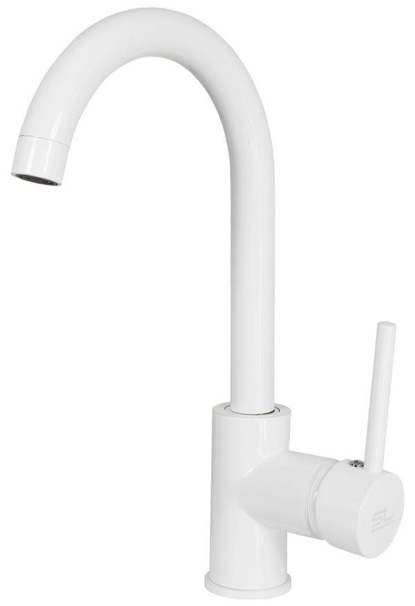 Modern Design Kitchen Sink Single Lever Tap Mixer Valve White Sanlingo – Bild 1