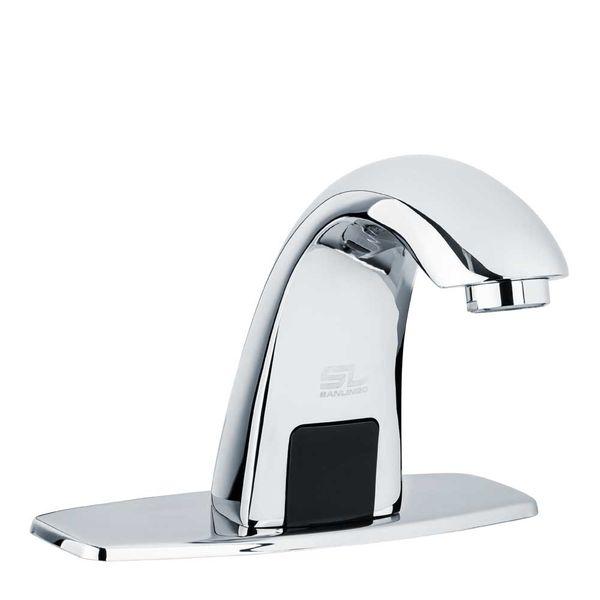 Sanlingo IR Infrarot Armatur Wasserhahn Automatik Waschbecken Chrom Kaltwasser