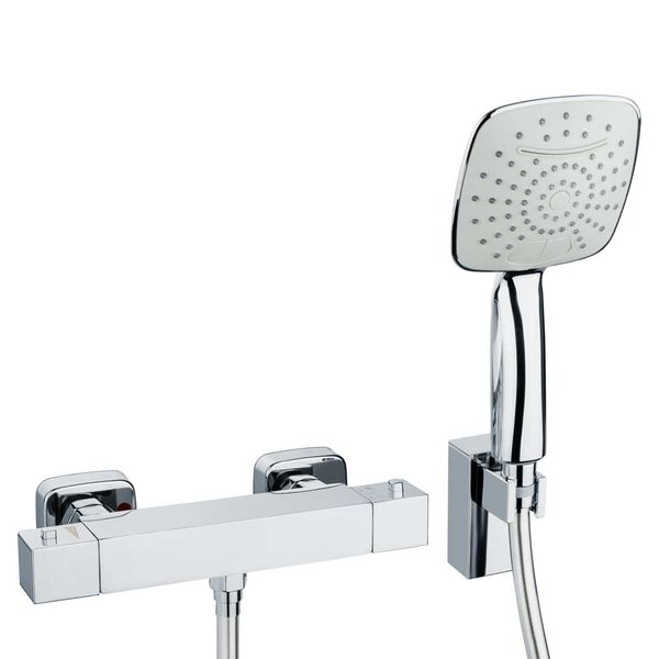 Modern Design Thermostat Thermostatic Water Tap Bathroom Chrome Set Sanlingo  – Bild 1