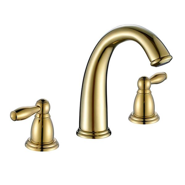 Nostalgia Retro 3 Hole Water Tap Gold Wash Basin Bathtub Sanlingo – Bild 1