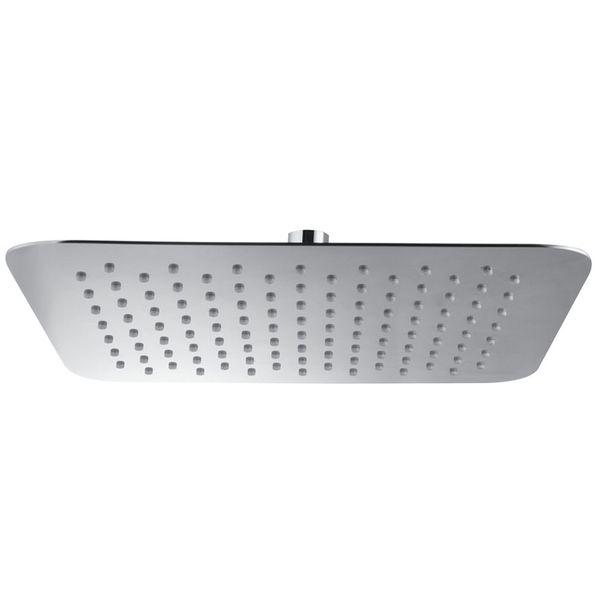 Design Rain Shower Head 30x30cm Angular Solid Brass Chrome Sanlingo – Bild 2