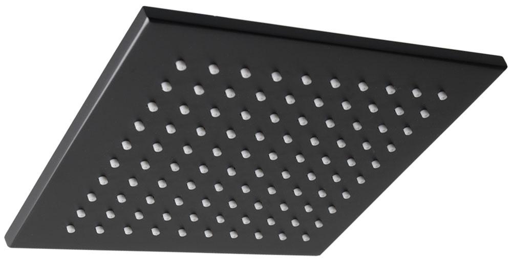 pommeau pomme tete douche effet pluie carr noir solide. Black Bedroom Furniture Sets. Home Design Ideas