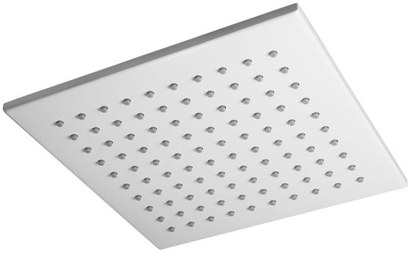 Ultra Thin Overhead Rain Rainfall Swivel Shower Head White Square Sanlingo – Bild 1