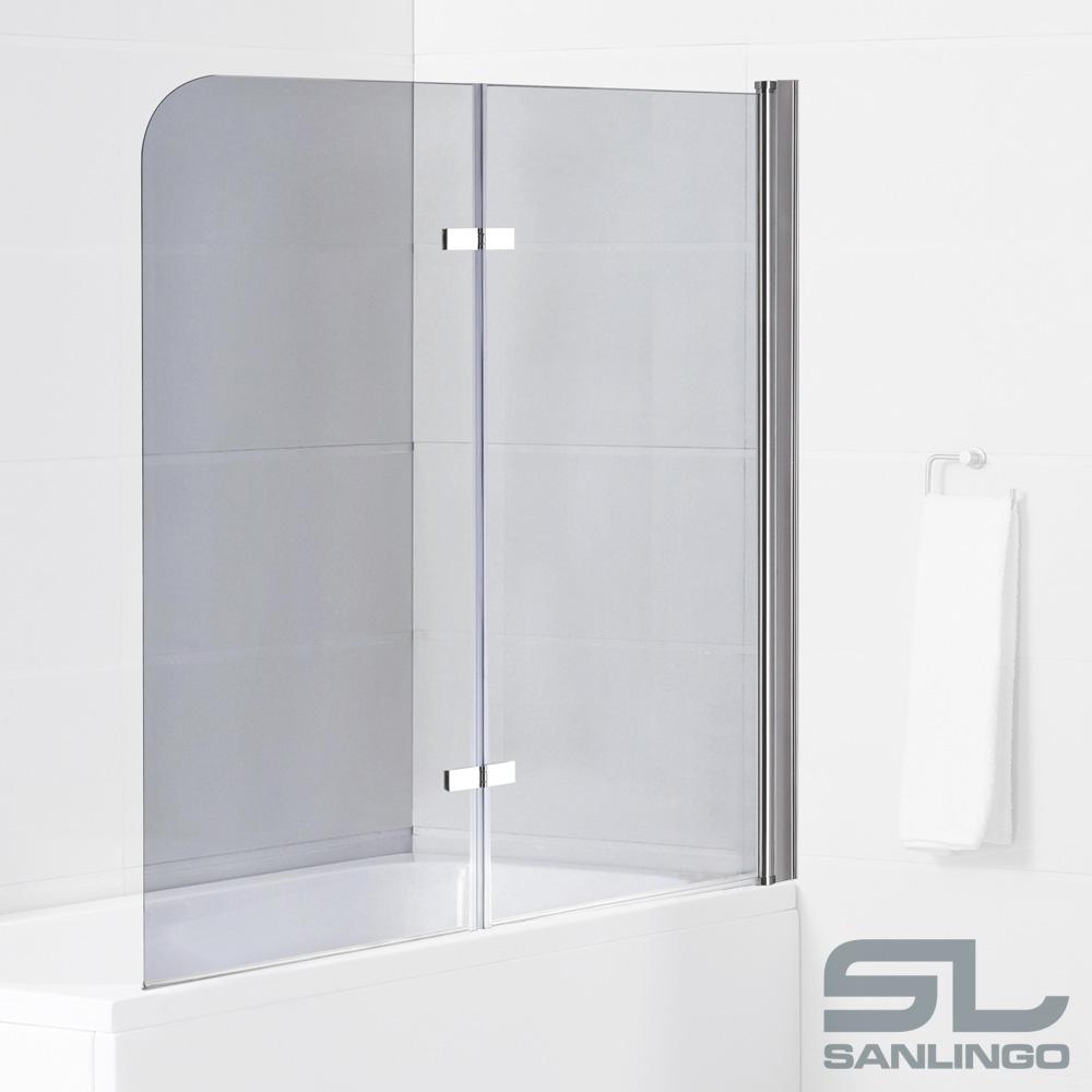 Panel de porte paroi de baignoire douche pliante en verre for Baignoire douche porte