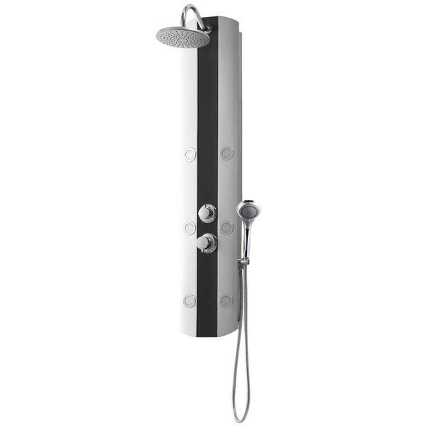 Kunststoff Duschpaneel Duschsäule Regendusche Massage Silber Sanlingo