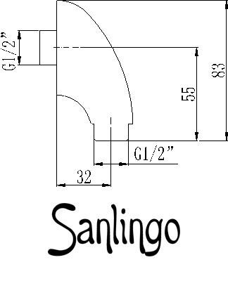 Wandanschlussbogen Chrom Oval Rund Dusche Schlauch Sanlingo – Bild 2