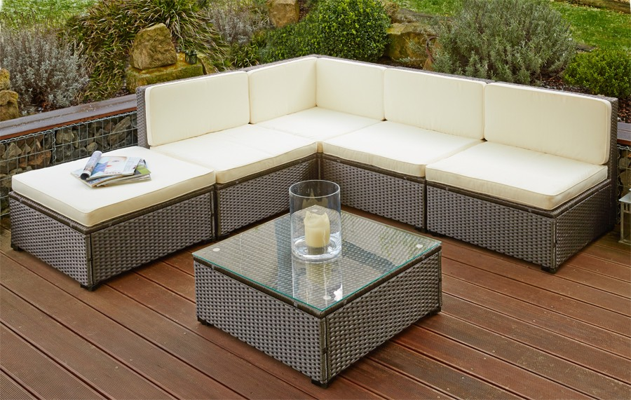 poly rattan sitzgruppe sitzgarnitur gartenm bel sofa. Black Bedroom Furniture Sets. Home Design Ideas