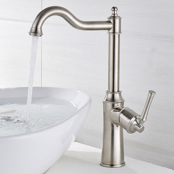 Bath Bathroom Wash Basin Sink Mono Mixer Tap Stainless Steel Sanlingo  – Bild 2