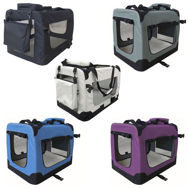 petigi Faltbare Transportbox Hund Faltbox Transporttasche Hundetransportbox Katze Auto 7 Größen 5 Farben