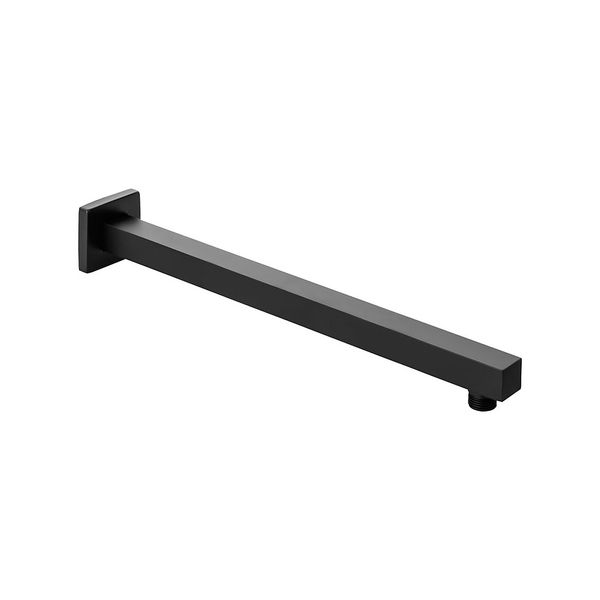 Head Shower Arm Wall Mounting Black Brass 40 cm Sanlingo – Bild 1