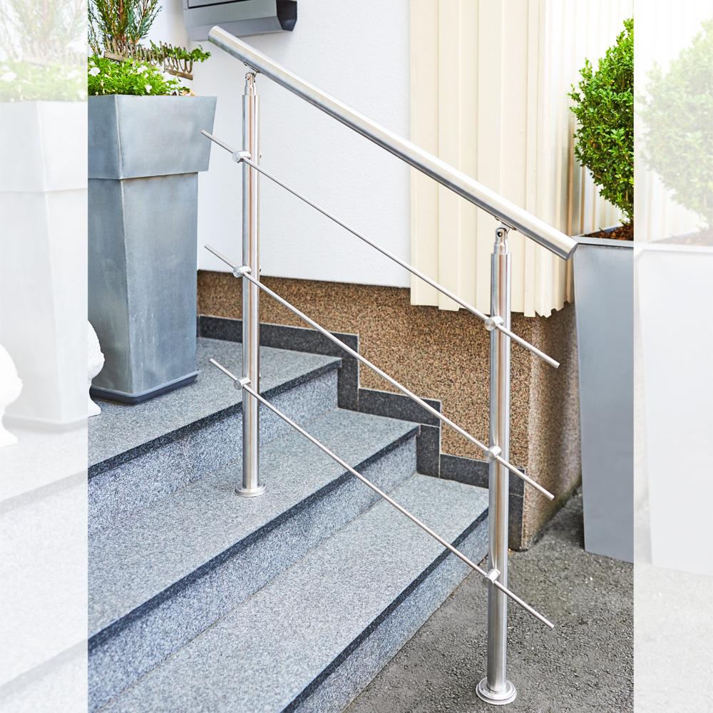 250cm Fello Edelstahl Handlauf bis 6 m Wand Gel/änder Treppe Griff Stange Br/üstung