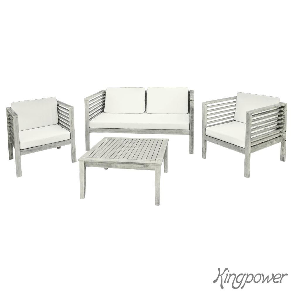 Holz Gartenmöbel Sitzmöbel Sitzgruppe Sitzgarnitur Gartenset Tisch 1 ...